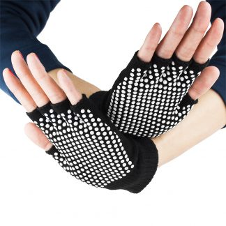 6585 324x324 - Black Fingerless Yoga Gloves with Slip-Free Beads