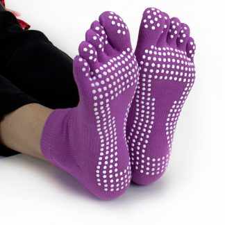 6428 324x324 - Purple Yoga Toe Socks w/Slip-free Silicone Texturizing Beads