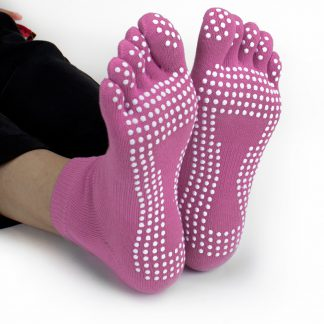 6430 324x324 - Blue Yoga Toe Socks w/ Slip-free Silicone Texturizing Beads