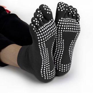 6431 324x324 - Black Yoga Toe Socks w/ Slip-free Silicone Texturizing Beads
