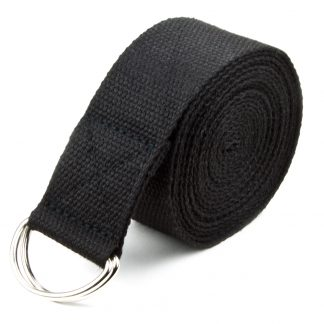 6707 324x324 - Black 10' Extra-Long Cotton Yoga Strap with Metal D-Ring