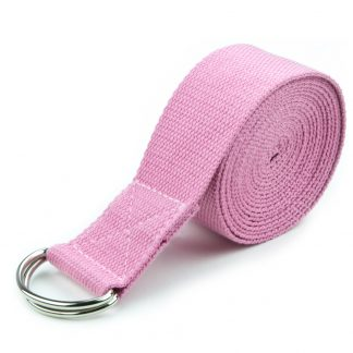 6708 324x324 - Red 10' Extra-Long Cotton Yoga Strap with Metal D-Ring