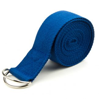 6709 324x324 - Blue 10' Extra-Long Cotton Yoga Strap with Metal D-Ring
