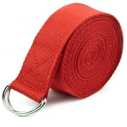 6710 v1 416x416 - Red 10' Extra-Long Cotton Yoga Strap with Metal D-Ring