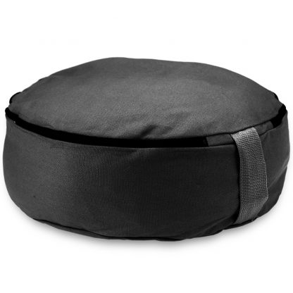 "6754 416x416 - Black 15"" Round Zafu Meditation Cushion"