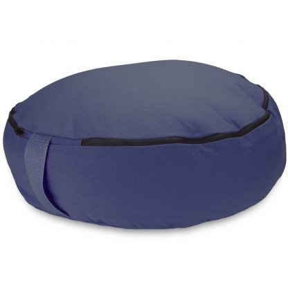 "6760 416x416 - Blue 18"" Round Zafu Meditation Cushion"