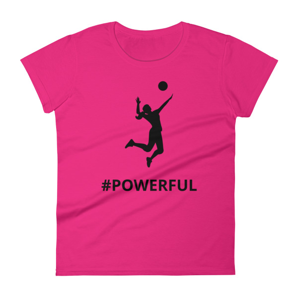 mockup 143c1cab - Women's short sleeve Volleyball t-shirt