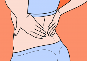 Woman affected with Low Back Pain