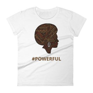 mockup a09a01f2 324x324 - #POWERFUL Women's short sleeve t-shirt