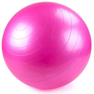 Pink Exercise Ball with Foot Pump