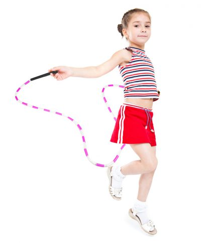Blue and White 7 foot jump rope with plastic segmentation2 416x484 - Blue and White 7-foot jump rope with plastic segmentation