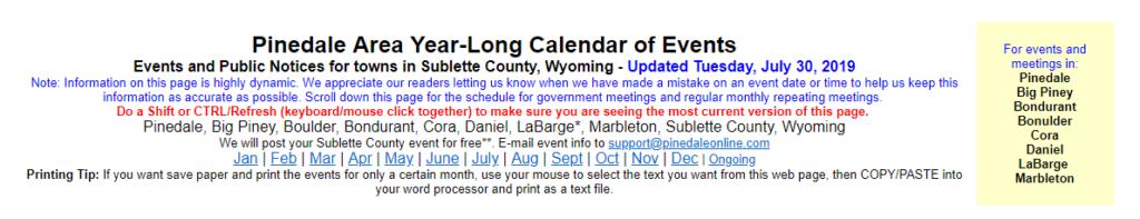 http://pinedaleonline.com/events/calendar/home.htm