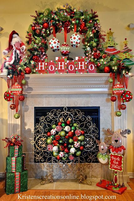 Christmas Fireplace Mantle Decoration Inspiration Teresa Cowart