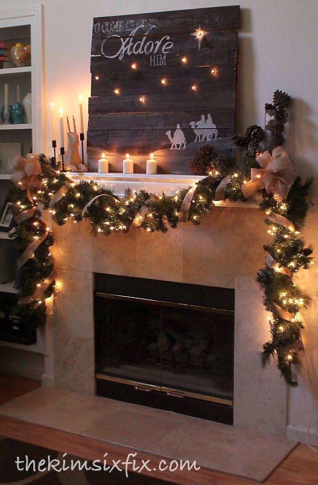 Holiday Fireplace Mantle Decor Inspiration 4