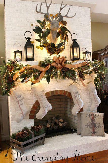 Holiday Fireplace Mantle Decor Inspiration 5