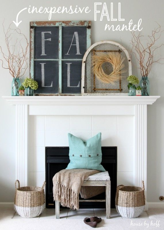 Chic Fall Mantle Deco