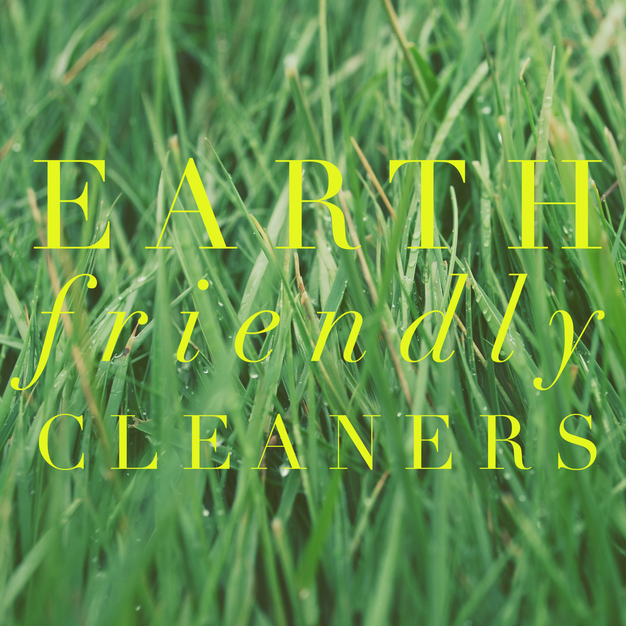 Earth Friendly Cleaners