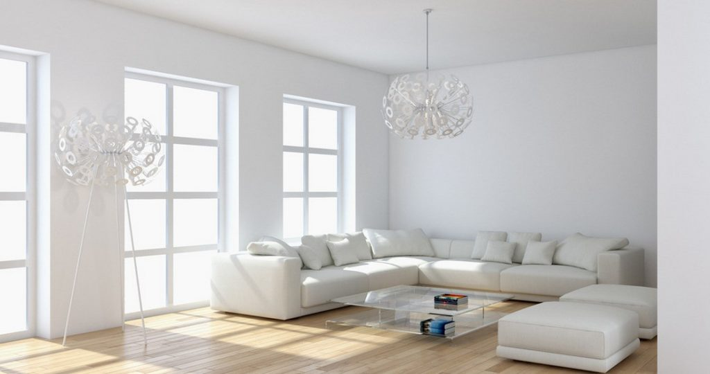 Danville real estate - Living rooms with white furniture ...