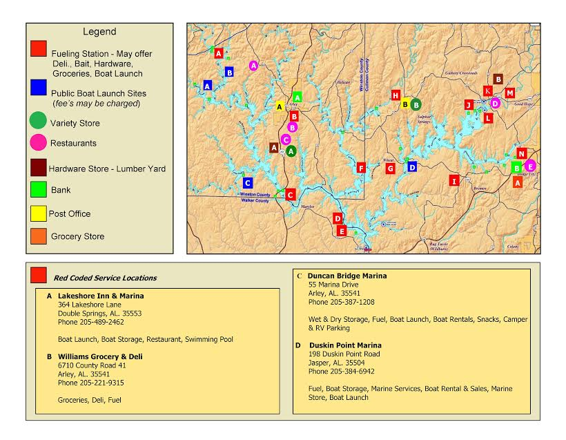 smith lake services map sharon miller