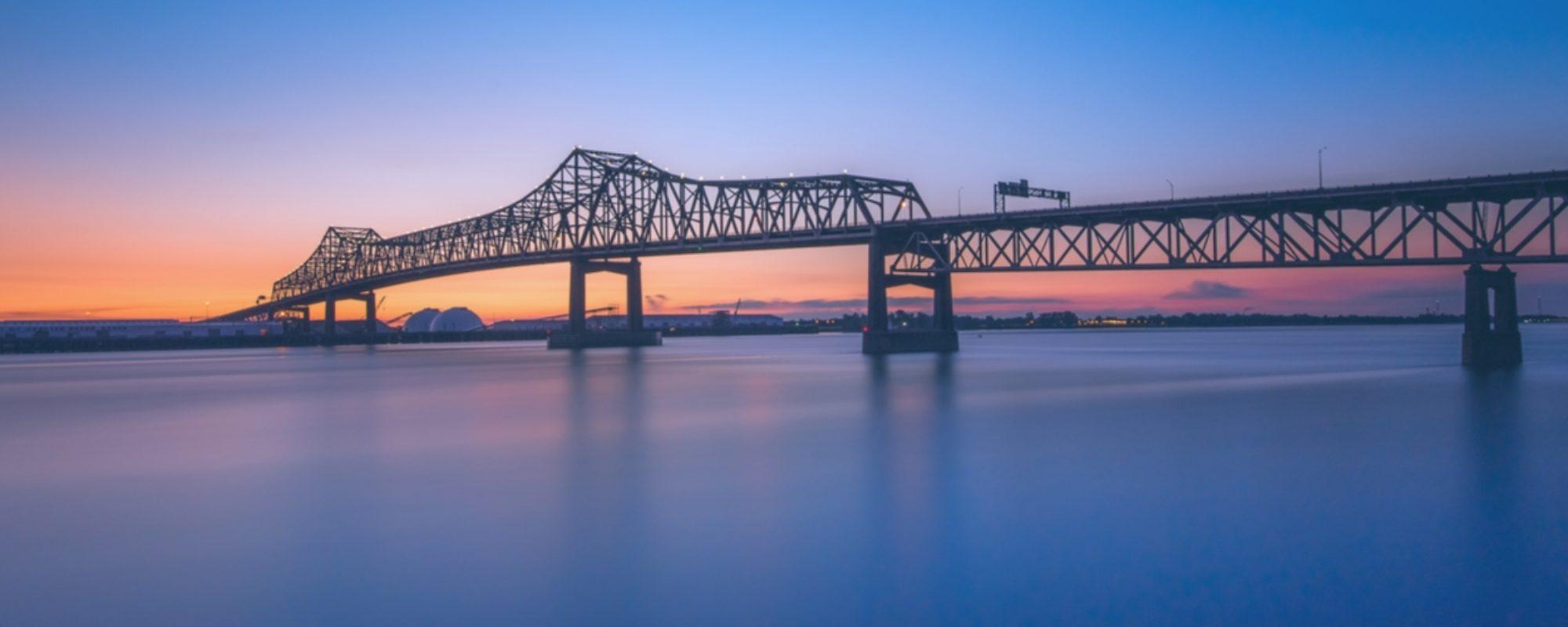 Mississippi Bridge  Downtown Baton Rouge Louisiana