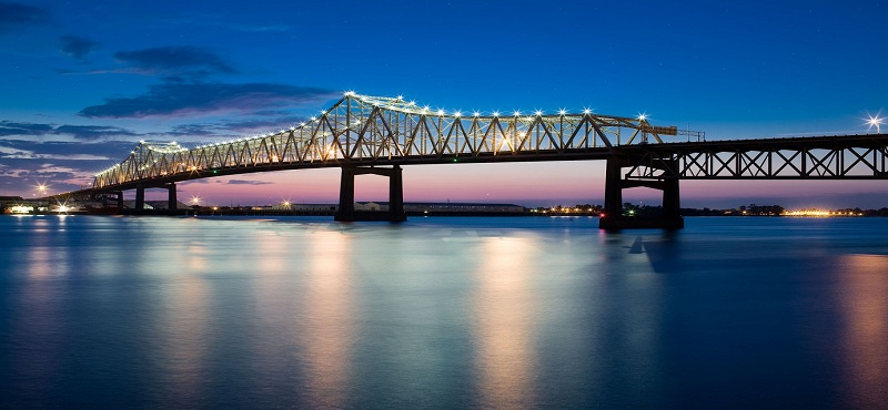 Mississippi Bridge  Downtown Baton Rouge Louisiana