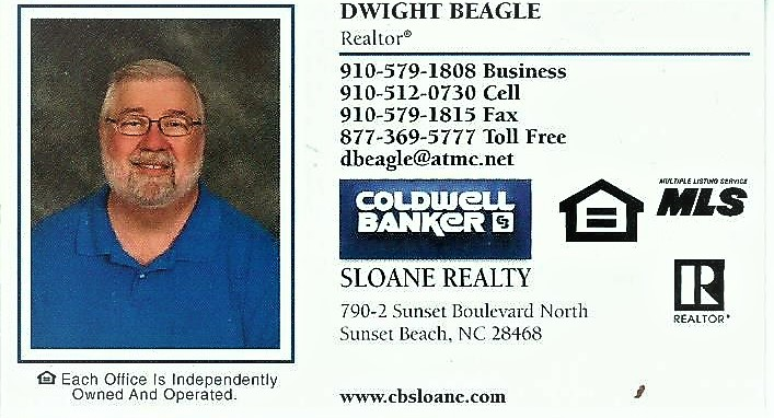 Dwight Beagle, Broker, Sunset Beach, NC