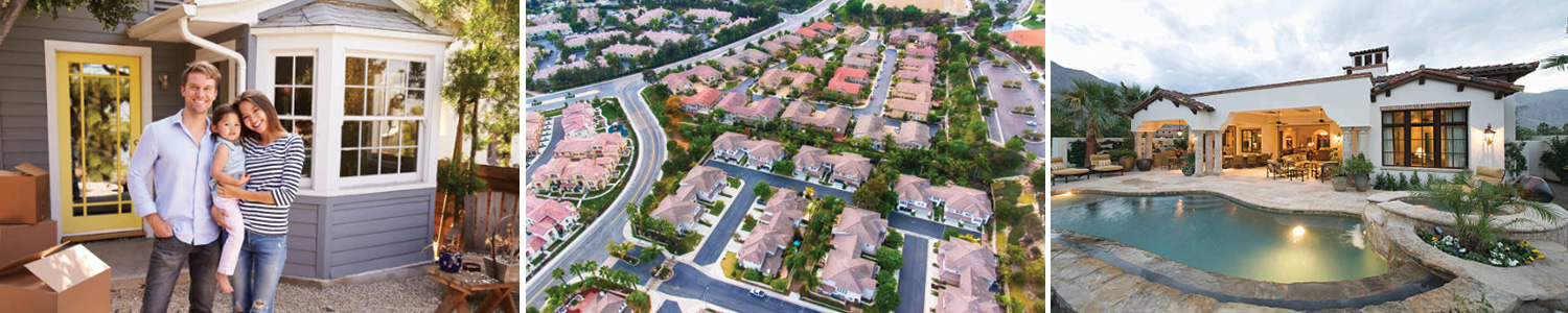 photo of houses and people for real estate