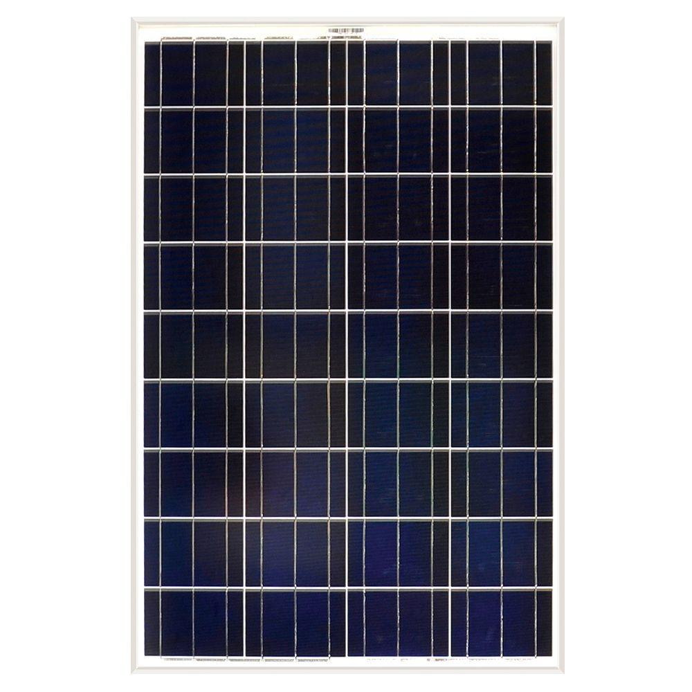 100-Watt Polycrystalline Solar Panel for RV's, Boats and 12-Volt Systems
