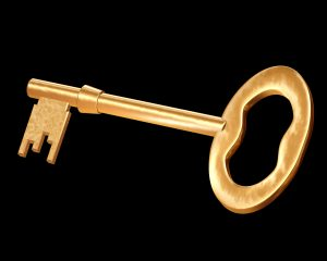 Illustration of a very special golden key