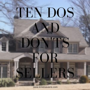 Dos and Don'ts for Sellers