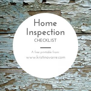 Free Printable Home Inspection Check List