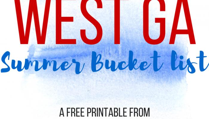 West Ga Area Summer Bucket List