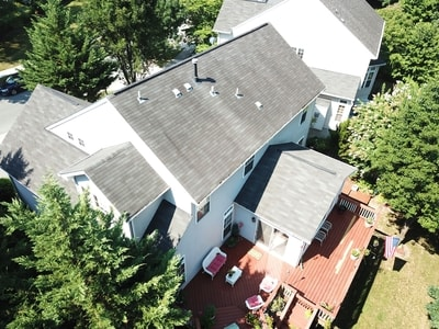 Aerial View of a home for sale by Chris Thompson Team.
