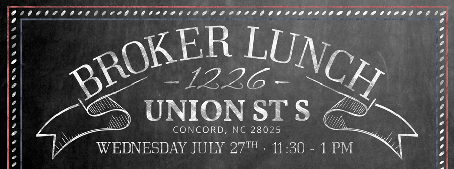 Broker Lunch for 1226 Union St S., Concord, NC 28025