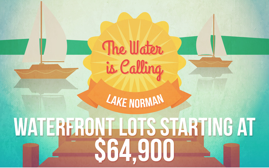 The Waters of Lake Norman are Calling! Waterfront Lots Starting at $64,900
