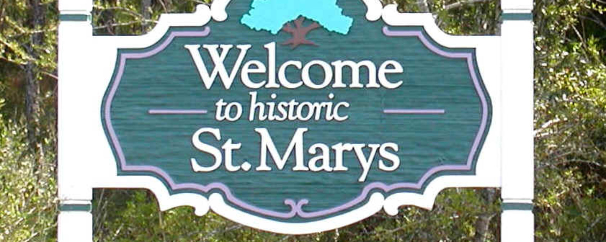 St Marys Welcome Sign