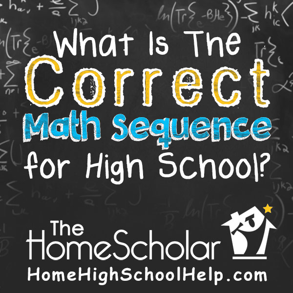 What is the correct math sequence for high school