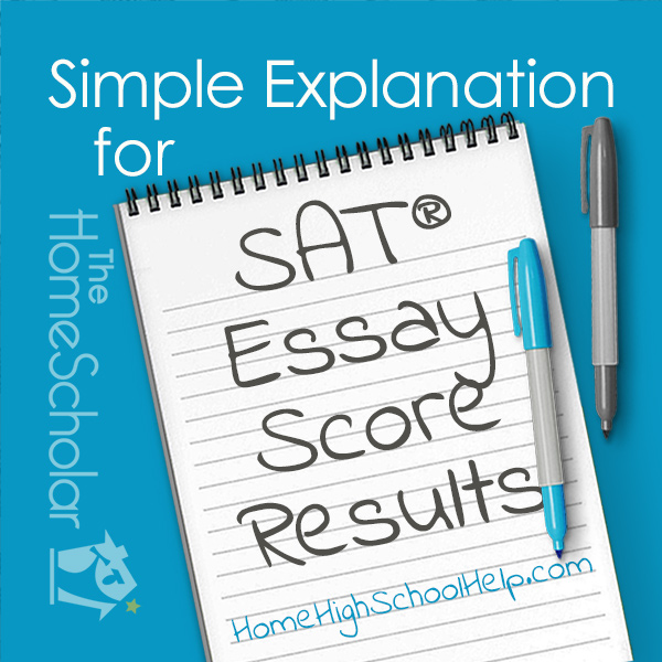 Simple Explanation for SAT Essay Score Results