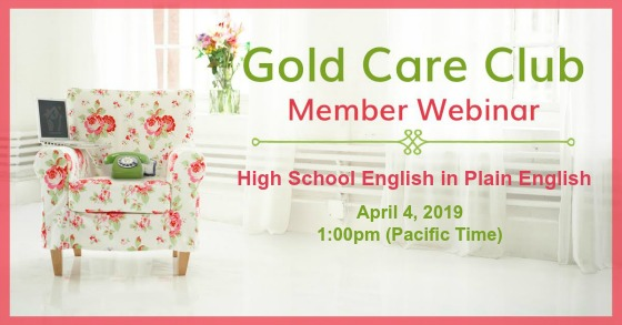 Gold Care Club Webinar: April 4, 2019