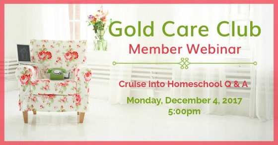 Gold Care Club Webinar: December 4, 2017