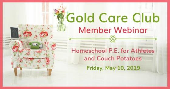 Gold Care Club Webinar: May 10, 2019