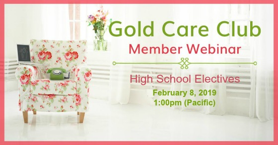 Gold Care Club Webinar:February 8, 2019