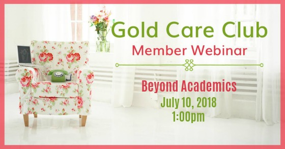 Gold Care Club Webinar: July 10, 2018