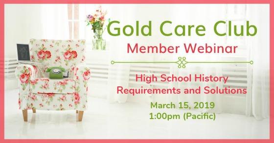 Gold Care Club Webinar: March 15, 2019