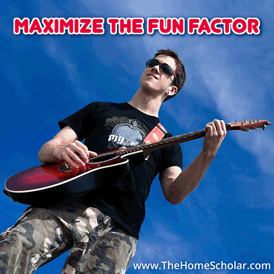 Maximize the Fun Factor #Homeschool @TheHomeScholar