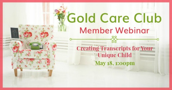 Gold Care Club Webinar: May 18, 2017