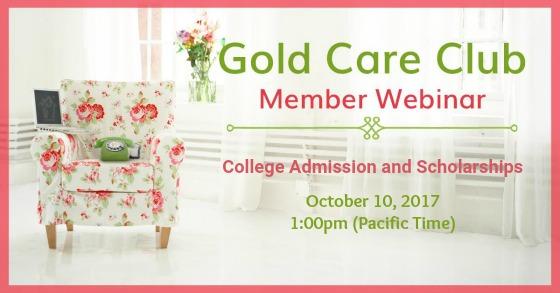Gold Care Club Webinar: October 10, 2017