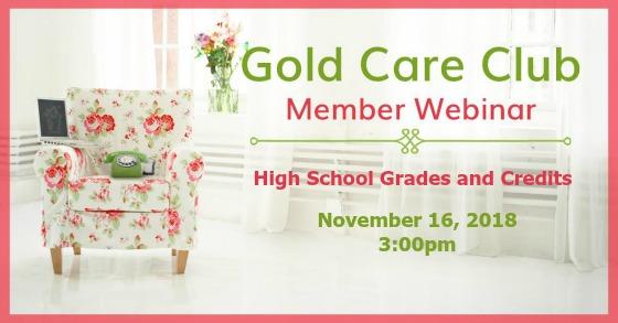 Gold Care Club Webinar: November 16, 2018