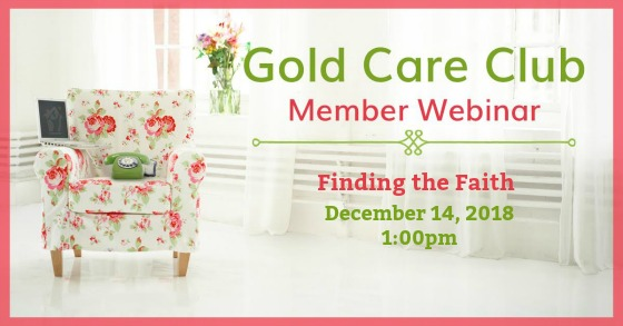Gold Care Club Webinar: December 14, 2018
