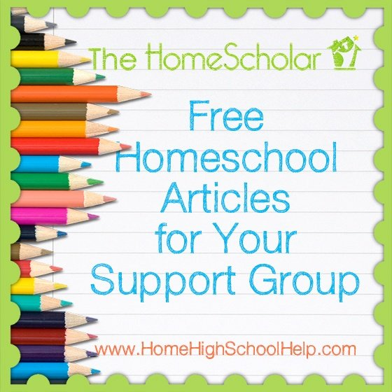 Free Homeschool Articles for your Support Group